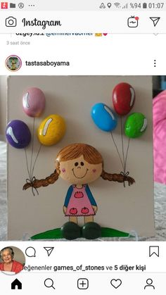 Pebble Painting, Pebble Art, Baby Elefante, Craft Stick Crafts, Stone Art, Rock Art, Painted Rocks, Doll Clothes, Projects To Try