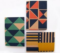 I love the prints on these notebooks by Tamasyn Gambell!