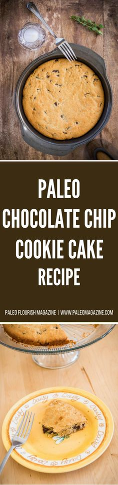 if you're looking for something a bit different to serve for dessert or to take to a party, then give this scrummy Paleo chocolate cookie cake recipe a try!