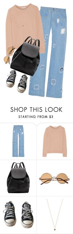 """""""This will pass like the weather"""" by arch3r-x ❤ liked on Polyvore featuring Rejina Pyo, Equipment, Witchery, Converse and Eva Fehren"""