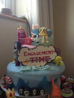 Adventure Time - Engagement Time Cake - Imgur