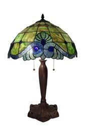 Warehouse of Tiffany Green Geometric Table Lamp (Green Geometric Symmetry Table Lamp) (Art Glass) Tiffany Style Table Lamps, Table Lamp, Cool Floor Lamps, Geometric Table Lamp, Decorative Table Lamps, Warehouse Of Tiffany, Geometric Table, Tiffany Style Chandeliers, Tiffany Green