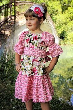 Malyn's Pretty Peasant Dress PDF Pattern size 6-12 months to size 8. $10.00, via Etsy.