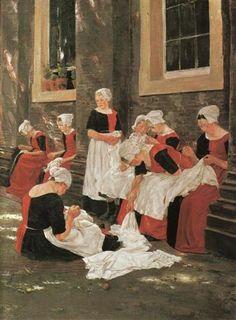 Max Liebermann - Amsterdam orphan girls