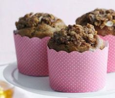 Crunchy Oat And Cinnamon Muffins: Brown sugar is the secret to making these muffins so tasty. http://www.bakers-corner.com.au/recipes/muffins/crunchy-oat-and-cinnamon-muffins/