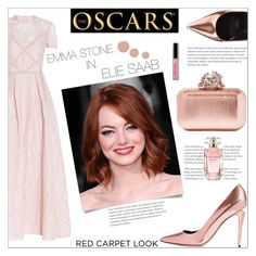 """Red Carpet Look"" by lovine ❤ liked on Polyvore featuring Elie Saab, Jimmy Choo, Alexander Wang, Bobbi Brown Cosmetics, Christian Louboutin and RedCarpet"