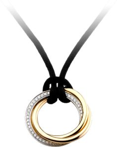 Trinity de Cartier necklace White gold, yellow gold, pink gold, diamonds