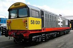 Railfreight class 58 no 58 001. These relatively new locos have been withdrawn from service and some sold abroad.