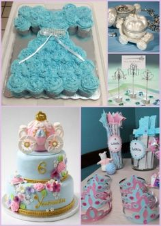 Cinderella Themed Birthday Party Ideas from HotRef.com #CinderellaBirthday #cinderellacupcake #cinderellacookie
