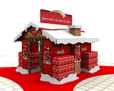 Point of purchase Designs. Coca Cola, Pos Display, Display Design, Christmas Store, Christmas Deco, Christmas Displays, Merchandising Displays, Store Displays, Exhibition Booth Design