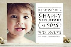 New Year's photo card at minted
