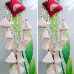 New fashion design details embroidery gowns Ideas Saree Tassels Designs, Rakhi Design, Stylish Blouse Design, Diy Tassel, Blouse Neck Designs, Embroidery Fashion, Fabric Jewelry, Textiles, Flower Making