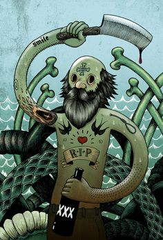 The Sailor by Oliver Hambsch, via Behance