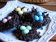 Bird's Nest No Bake Cookies