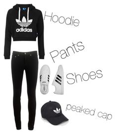 A fashion look from July 2016 featuring adidas trefoil hoodie, slim fitted pants and adidas sneakers. Browse and shop related looks. Adidas Pants, Adidas Sneakers, Adidas Trefoil Hoodie, Peaked Cap, Workout Pants, Topshop, Fashion Looks, Slim, Hoodies