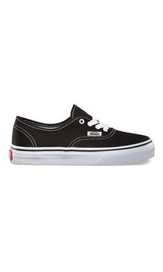 Vans Authentic Youth Black/White - Fuel Clothing