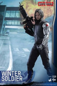 Hot Toys : Captain America: Civil War - Winter Soldier scale Collectible Figure - Visit to grab an amazing super hero shirt now on sale! Captain America Civil War, Captain America Winter, Fallout 3, Sebastian Stan, Marvel Heroes, Marvel Dc, Wallpaper Collage, Videogames, Winter Soldier Bucky