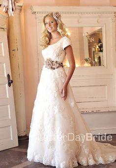 A lacey dress