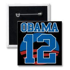 Obama 12, sporty lapel pin button.