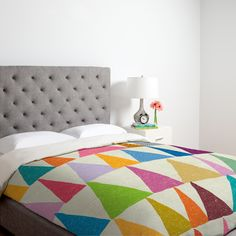 DENY Designs Nick Nelson Analogous Shapes in Bloom Duvet Cover Collection | AllModern
