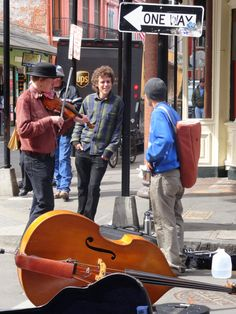 Street musicians - New Orleans photo/Lucie E New Orleans Music, Street Musician, Carmen Sandiego, New Orleans Mardi Gras, New Orleans Louisiana, Crescent City, Yesterday And Today, Folk Music, City Living