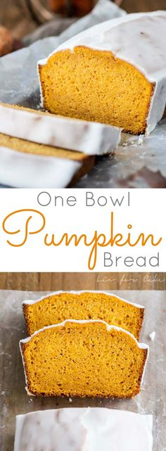 The BEST Pumpkin Bread you will ever have. Easy, one-bowl, delicious. | livforcake.com via @livforcake