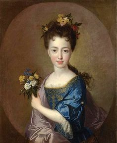 Louisa Maria Theresa Stuart by   Jean-François de Troy (1679 - 1752, French)