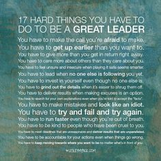How to be a great leader  - 17 leadership tips. yourlifeenhanced.net