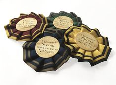 Harry Potter rosettes- perfect for party favours!