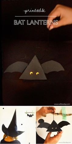 Halloween: DIY Bat Box Printable