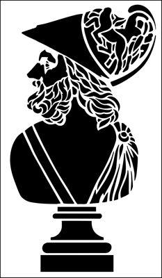 Lysander stencil from The Stencil Library ARCHITECTURE range. Buy stencils online. Stencil code AR76.