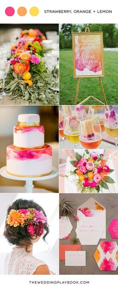 Strawberry, Orange & Lemon Wedding Mood Board Best Picture For spring wedding cake 2019 For Your Taste You are looking for something, and it is going to tell you exactly what you are looking for, and Wedding Ceremony, Our Wedding, Dream Wedding, 2017 Wedding, Garden Wedding, Destination Wedding, Summer Wedding Colors, Summer Weddings, Bright Wedding Colors