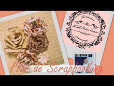 Rosa de scrapbooking tutorial si necesidad de troquel