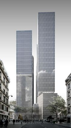 Architecture Visualization, Commercial Architecture, Futuristic Architecture, Facade Architecture, Amazing Architecture, Amazing Buildings, Modern Buildings, Office Buildings, Building Facade