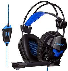 KingTop Cuffie Gaming Per PS4 Xbox OneS Cuffie Stereo Da Gaming Con  Microfono Pieghevole Per PCGame VideoGame Tablet PC Cellulari Cuffie Da  Gioco Con Cavo ... 7da0803c5328