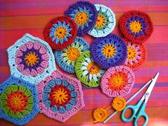 Flowers into hexagons by Attic24, via Flickr