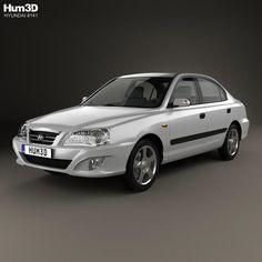 Hyundai Elantra (XD) CN-spec 2010 3d model from Hum3d.com.