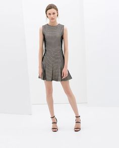 Image 1 of MESH DRESS WITH FLOUNCE from Zara