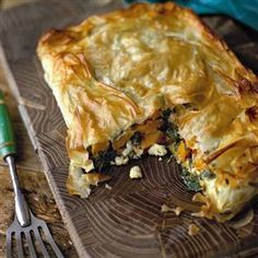 Squash and spinach pie This is a fabulous vegetarian dish and would also work well made as individual parcels as a starter (see tip on recipe).