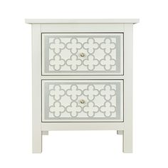 O'verlays Quatrefoil Kit for Ikea Hemnes 2 drawer chest. A classic in home decor that works with any style of decorating. An easy diy furniture makeover.