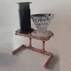 Two-cup coffee pour-over stand