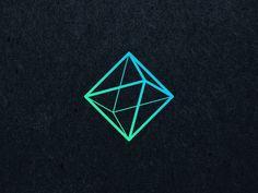 the litely octahedron - symbol for air in sacred geometry. uploading old work. Abstract Logo, Geometric Logo, Gfx Design, Icon Design, Logo Inspiration, Corporate Design, Branding Design, Logo Sketch, Architecture Logo