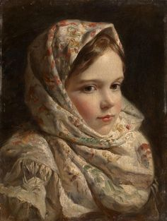 Russian School, Portrait of a Girl ,19th Century                                                                                                                                                     More