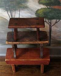 Folk Art Antique Store Carole's Country Store foot stools