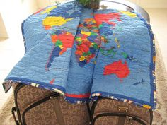 children's map quilt