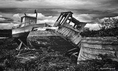 Old boats. Vardø, Finnmark. Norway