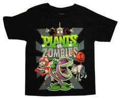 Plants Vs Zombies Cast Popcap Video Game Youth T-Shirt Tee Halloween Shoes, Kids Sand, Vintage Video Games, Neo Geo, Plants Vs Zombies, Branded T Shirts, Youth, Tee Shirts, It Cast