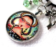 Frida Kahlo Charm Necklace by Mary Ann Farley, $24.00
