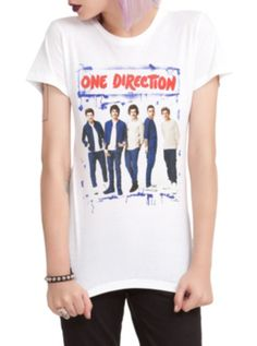 One Direction Blue Spray Paint Girls T-Shirt. They are so dreamy!