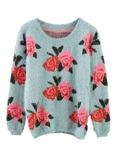 PrettyGuide Women Red Rose Print Fluffy Shaggy Pullover Blue Sweater PrettyGuide http://www.amazon.com/dp/B00HB3PJZU/ref=cm_sw_r_pi_dp_2ro5tb0FABXPC
